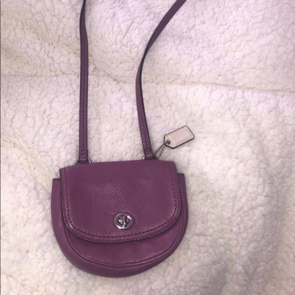 Coach Handbags - Coach Mini Purple Crossbody Purse